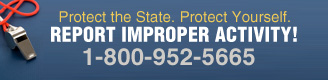 Report Improper Activity! (800) 952-5665