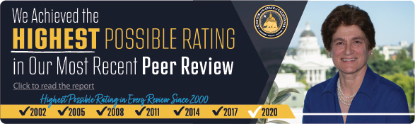 In our last peer review, we received the highest rating possible.